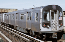 Picture of a R-143 subway train