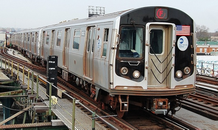 Picture of a R-160A subway train