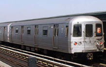 Picture of a R-46 subway train
