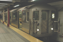 Picture of a R-62 subway train