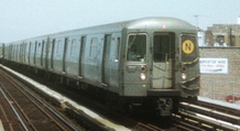 Picture of a R-68 subway train