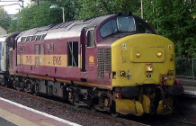 Picture of a class 37 diesel-electric engine