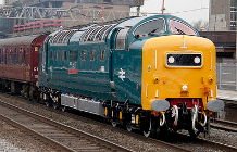 Picture of a class 55 diesel-electric engine
