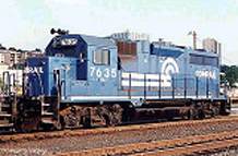 Picture of a diesel-electric engine class GP-38
